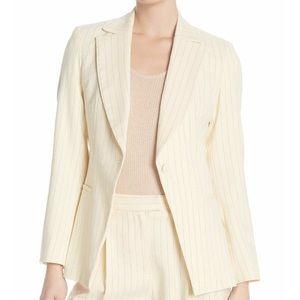 TopShop Pinstripe Button Front Blazer Cream 8